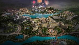 An upcoming universal beijing resort outdoor